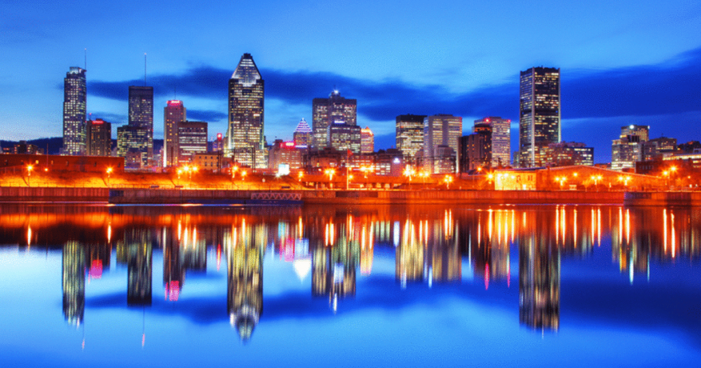 The beautiful city of Montreal