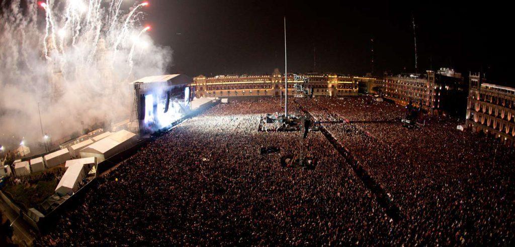 Massive concert in the Zocalo