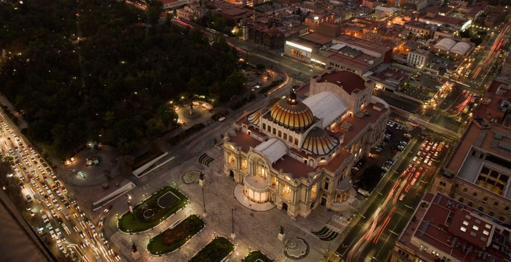Palace of Bellas Artes in Mexico City